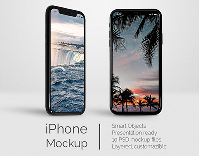 iPhone XR Jet Black - Free Mockup