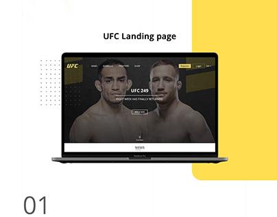 UFC Landing page