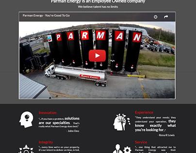 Parman Energy - Landing screen Design