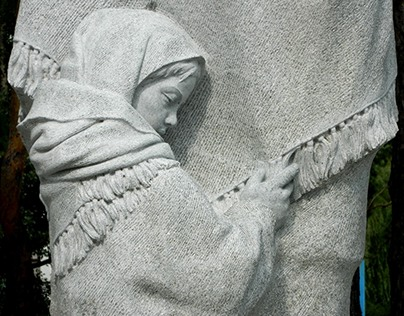Girl (fragment of monument to War Women), granite, 2012