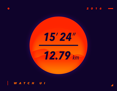 L I G H T E N I N G -- Watch UI design