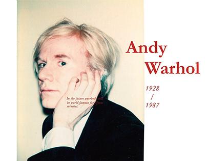 安迪沃荷The world of Andy Warhol-雜誌排版設計