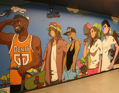 GEN.G e-sports LAHQ Mural