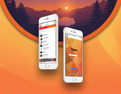 Tunez - Mobile UI Design