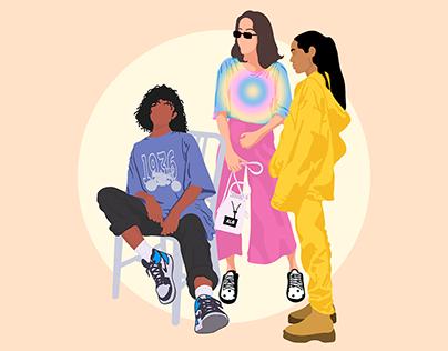 Free Cutout People Illustration - Fashion Pack 1