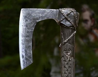 'UBBE' Viking Bearded Battleaxe