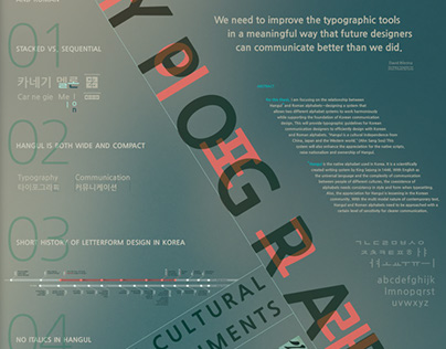Thesis: Typography in Cross Cultural Environments