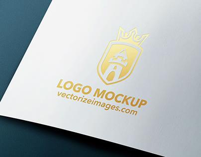 Free realistic logo mockup PSD