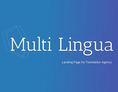 "Landing Page for Translating Agency ""Multi Lingua"""