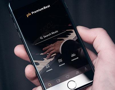 App, UX/UI: PremiumBeat