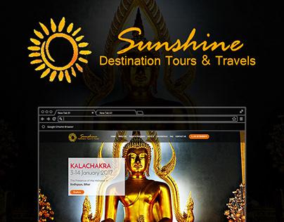 Sunshine Destination Tour & Travels - Logo & Web design
