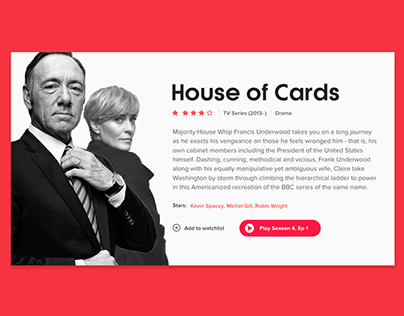 Netflix Movie Card Concept