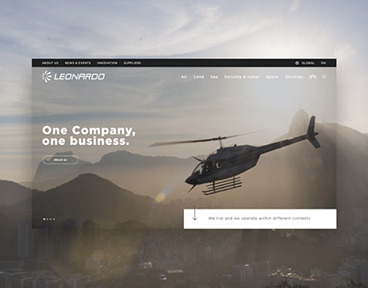 Leonardo Company | Corporate Website | UI/UX