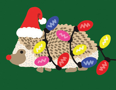 Holiday Hedgehog Layouts for Holiday Products