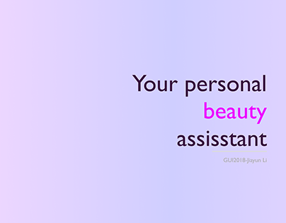 GUI-your beauty assistant mobile app ui