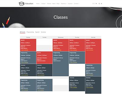 Classes Style 3 - Education WordPress Theme
