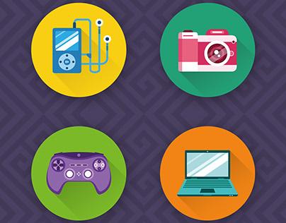Electronics icons / Elektronika ikony