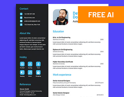Free Ui Ux Designer Resume Template On Behance
