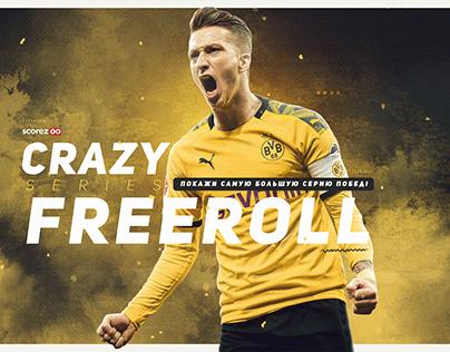 """Marco Reus Crazy Series Freeroll Poster"" - Client Work"