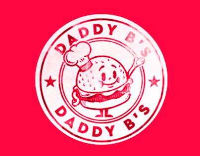 Daddy B's Hamburger Restaurant branding