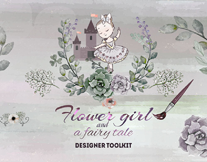 "Design toolkit ""Flower girl and a fairy tale"""