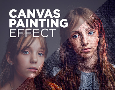 Free Photoshop Action Canvas Painting Effect #5