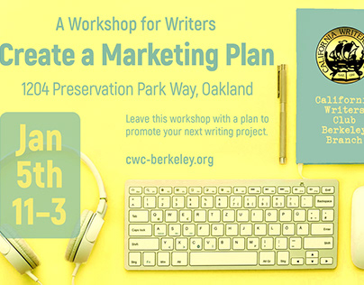 Facebook event promo for nonprofit for writers