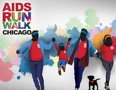 AIDS RUN & WALK CHICAGO | Art Direction & Web/UI Design