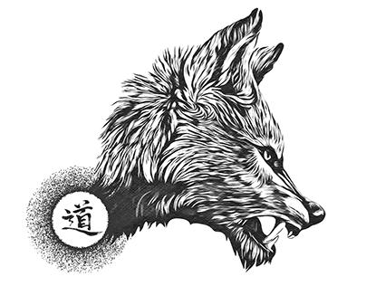 道狼 Tattoo skech