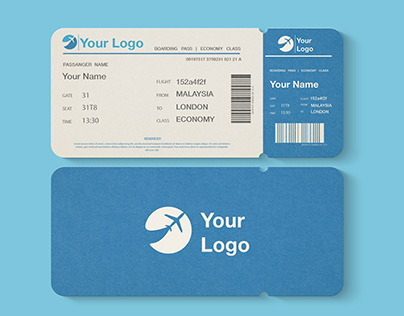 Free Flight or Event Ticket Mockup (PSD)