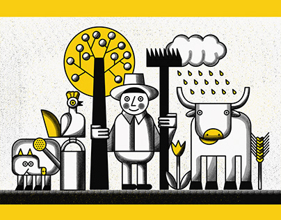 Illustrations for Batenka: Permaculture
