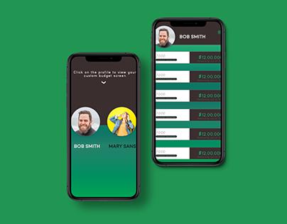 Budget app UI