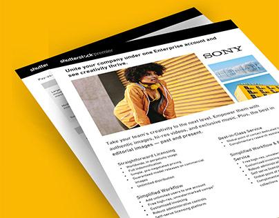 Shutterstock x Sony One Sheet Design