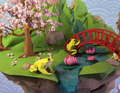 L'île aux grenouilles