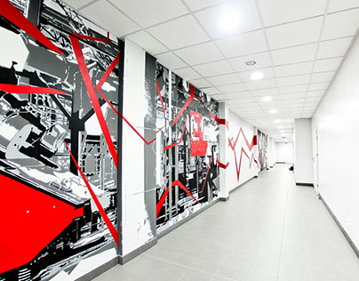 Cast - Stencil Mural