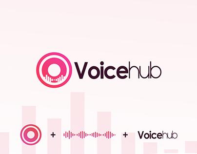 Voicehub Logo design