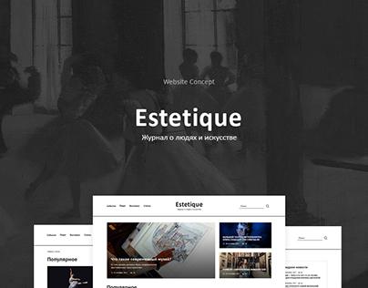 News portal about art Estetique