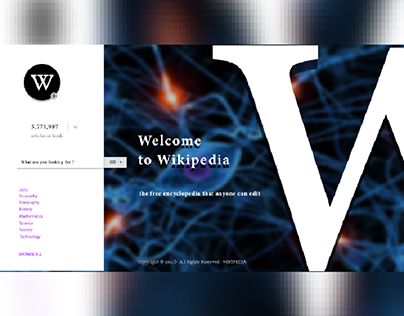 ui/ux  Web page for Wikipedia practice work