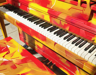 "Public Art: ""Heat from the Palm of my Hands"" Piano"