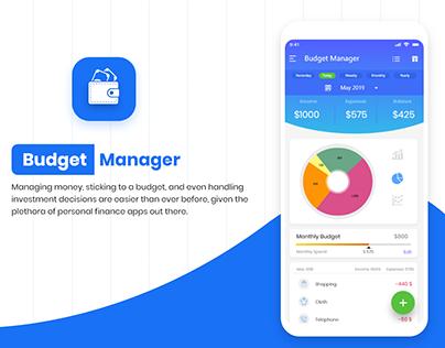 Budget Manager App UI
