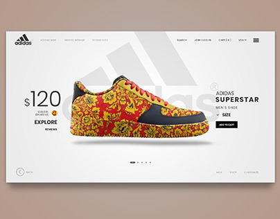 Adidas concept Page Psd | free psd | freebie psd