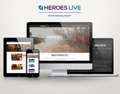 Web Design - Heroes Live
