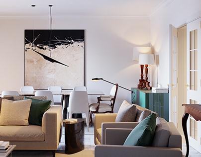 Interior visualization - Living Room