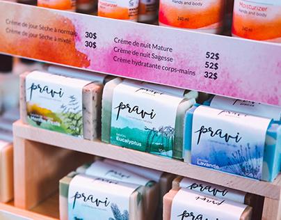 Pravi Cosmétiques naturels - gamme de savons