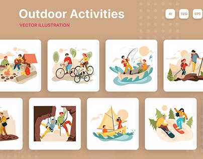 Outdoor Activities Illustration Pack