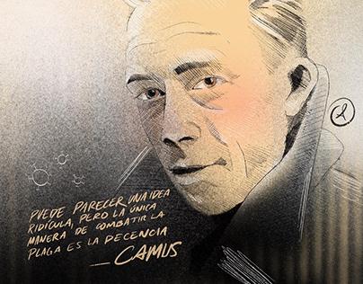 Ilustración de La Peste -Albert Camus
