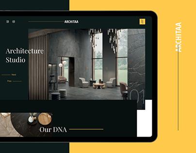 ARCHITAA | Architecture Website UI Design