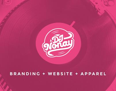 DJ Nonay: Branding + Website + Apparel