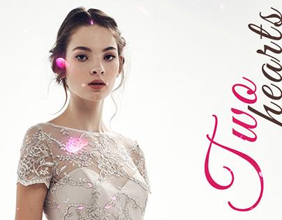 Two Hearts — wedding agency logotype & website