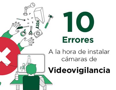 10 Errores a la hora de instalar cámaras de vigilancia